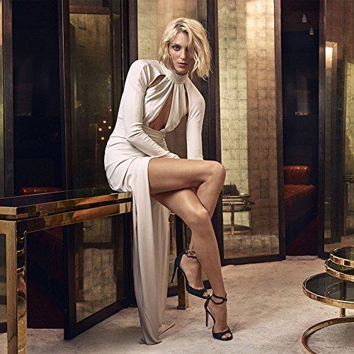 38 Sexy La Femme Mode Transgenre Boîte Fête Nuit Sandales TLJ Club De De Grande Plateforme KJJDE Black 4006 Talon Mariage Haut De Soirée Taille gwPdEWgqnf