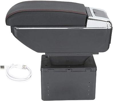 szss-car piel coche centro consola apoyabrazos caja./Apoyabrazos Caja de almacenamiento