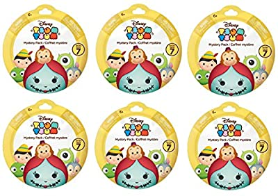 Bundle of 6: Disney Tsum Tsum Mystery Stack Pack Mini Figures Series 7