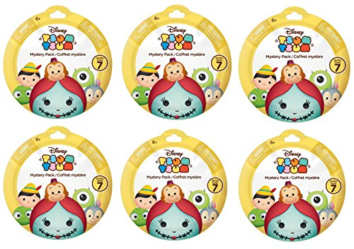 Bundle of 6: Disney Tsum Tsum Mystery Stack Pack Mini Figure