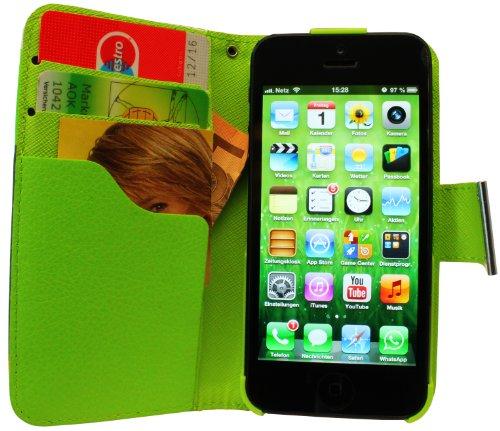 Avcibase 4260310648538Étui de protection à rabat, en cuir synthétique, pour iPhone 5/5G