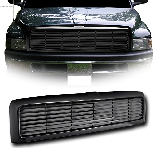 - VXMOTOR for 1994-2001 Dodge Ram 1500 ; for 1994-2002 2500/3500 Glossy Black Blk Horizontal Front Hood Bumper Grill Grille Kit Cover Guard Replacement Conversion ABS