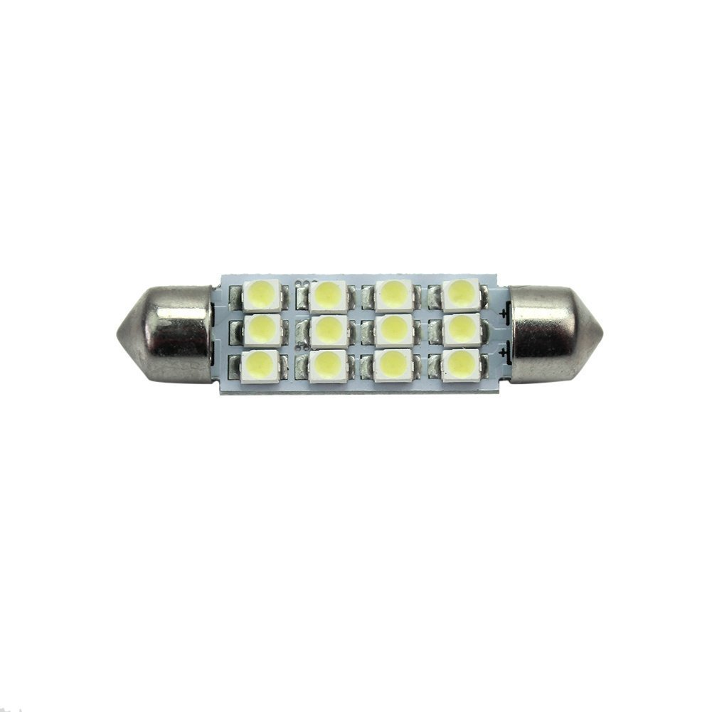 Pinzhi® 41mm 12-LED SMD Light Car Interior Lamp Festoon Bulb White DC 12V 0.55W Pinzhi® SPHLF2555