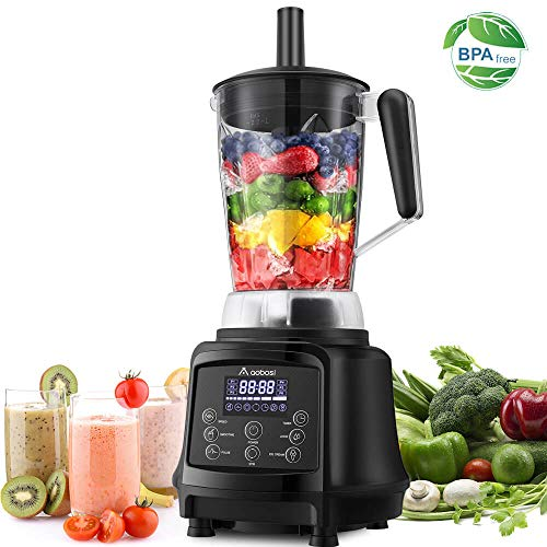 Blender, AAOBOSI Smoothie Blender, Professional Blender for Shakes and Smoothies, 75oz Pitcher, 10-speeds, Free Recipe, Black
