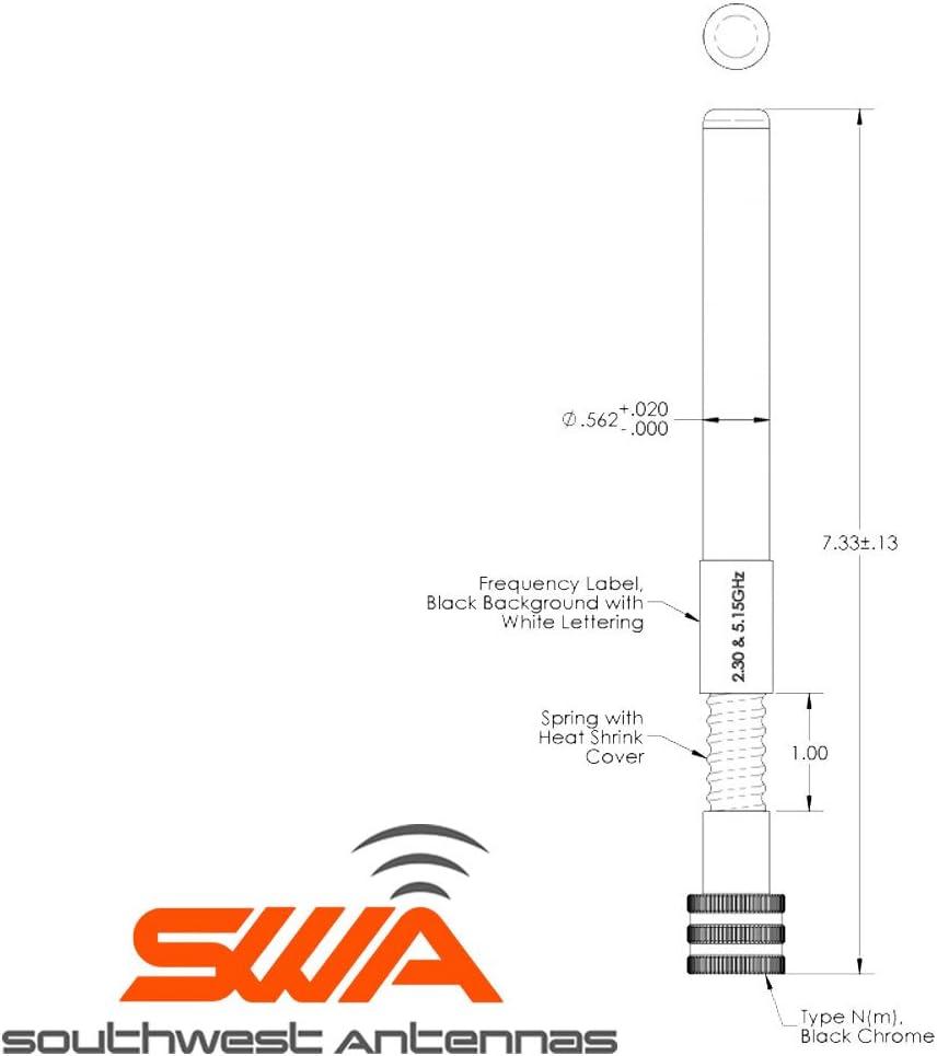 Antena omnidireccional de doble banda, dipolo de media onda ...