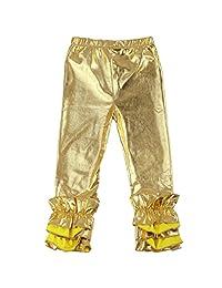 Toddler Baby Girls Ruffle Leggings Pants Boutique Cotton Long Flower Trousers