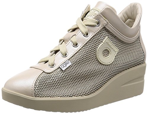 AGILE BY RUCO LINE woman sneakers low wedge 226 NEW SPAKO l. beige Spago