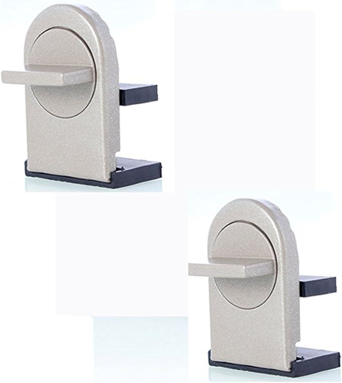z & C ventana Lock Stopper, seguridad para niños ajustable de grosor puerta corredera ventana Locks, Kids Catch Pestillo, cuña de cierre de puerta de seguridad con goma cubiertas para ventana corredera (