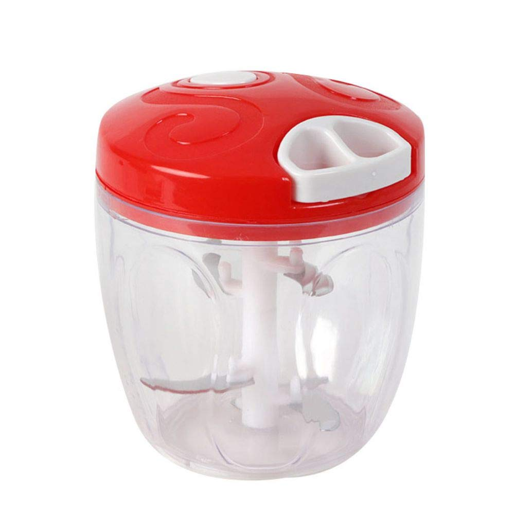 ZAVAREA Manual Food Chopper Manual Food Processor 5 Blades Pull String Multifunction Vegetable Onion Chopper by ZAVAREA