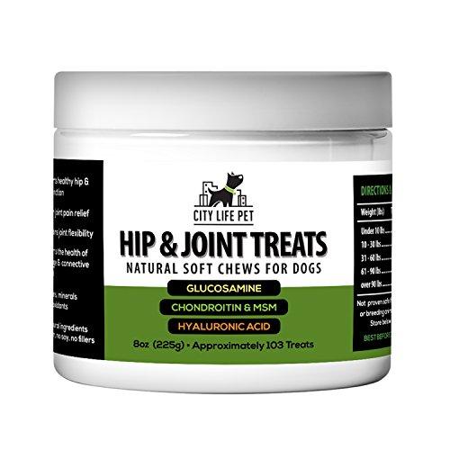 City Life Pet Hip & Joint Dog Treats - Natural & Organic Soft Chews - Charity -
