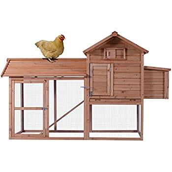 Best Choice Products 80in Wooden Chicken Coop Nest Box Hen House