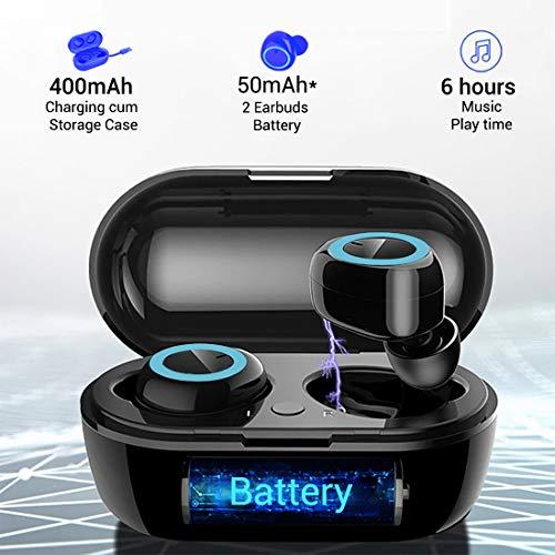 pTron Bassbuds in-Ear True Wireless Bluetooth Headphones (TWS) with Mic - (Black) 3