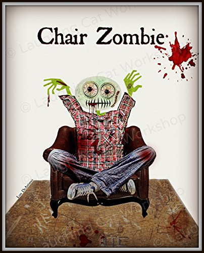 Funny Zombie print hipster Blood Zombies art Binge Watching TV Chair Zombie lovers gift Halloween decor The walking dead art Girls Boys Teens Health education Back to School poster man cave decor -