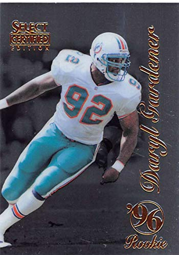 1996 Select Certified Football #106 Daryl Gardener RC Rookie Card Miami Dolphins Official NFL Trading Card From Pinnacle (The Gardeners Shop)