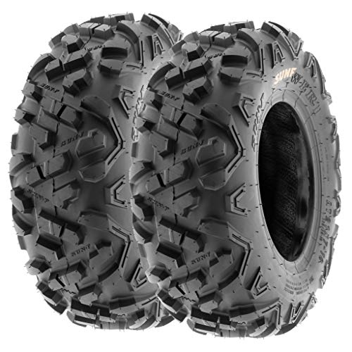 Set of 2 SunF Power.II 16x8-7 ATV & Go-Kart Off-Road Tires, All-Terrain, 6 PR, Tubeless A051