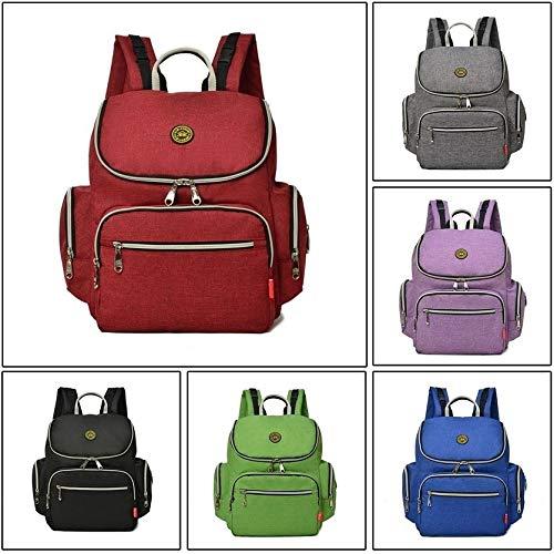 cnmodle Baby Diaper Bag Mommy Bag Travel Backpack with Stroller Straps Shoulder Bag Dark Grey