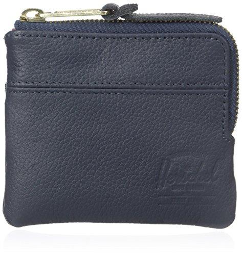 Herschel Supply Co. Men's Johnny Leather Wallet, Navy Pebble, One Size
