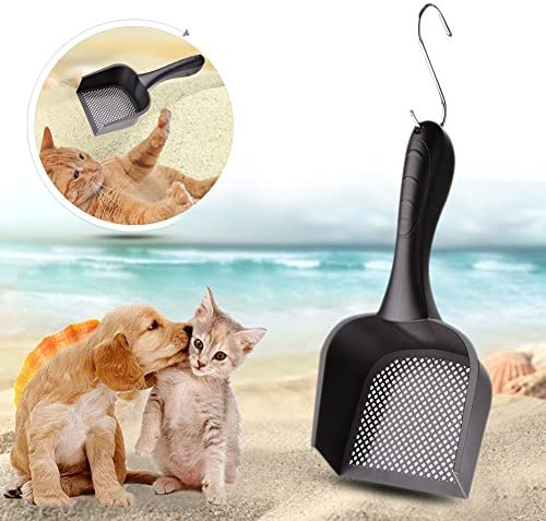 wonderfulwu Cat Litter Scoop with Handle Small Hole, Reptile Litter Cleaner Scoop