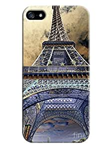 Case For Sam Sung Galaxy S5 Cover Series Tattoo Art Design, Variety of Sexy Cases Eiffel Tower , Protective Snap-on Hard Plastic for Eiffel Tower s LarryToliver #1