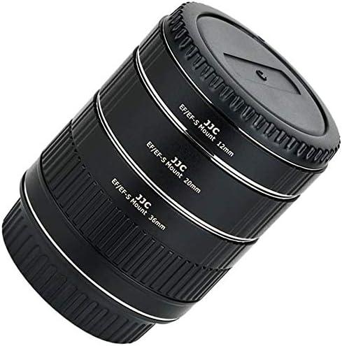 JJC Metall Autofokus-Zwischenringe (AF) Set | kompatibel für Canon EOS EF/EF-S Mount Kameras | 12 mm - 20 mm - 36 mm | Modell: AET-CS(II)