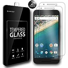 Ganvol 2 Pack Premium Tempered Glass Screen Protectors for Google Nexus 5X