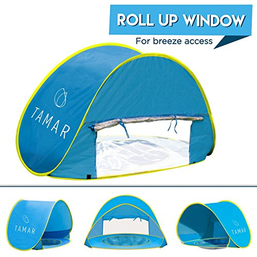 Tamar Baby Beach Tent  Toddlers and Tots Blue Pop-Up Sun Shelter with mini Pool and Detachable ...  sc 1 st  Outdoor Store Online & Baby Beach Tent : Toddlers and Tots Blue Pop-Up Sun Shelter with ...