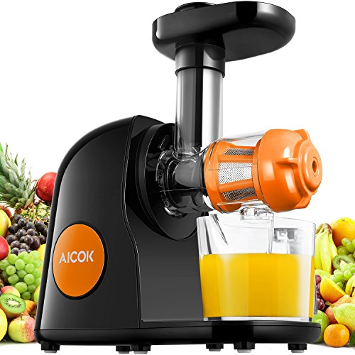 Aicok Slow Masticating Juice Extractor With Reverse Function : Black Friday Specials - Kamisco