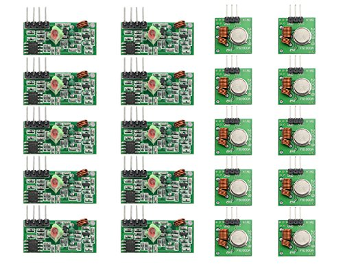 WGCD 20 PCS/10 Pairs 433Mhz RF Transmitter and Receiver Link Kit for Arduino ARM MCU