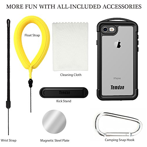 iPhone 7/8 Waterproof Case, Temdan SUPREME Series Waterproof Case with Carabiner Built in Screen Protector Outdoor Rugged Shockproof Clear Case for iPhone 7 and iPhone 8 (4.7 inch) by Temdan (Image #6)