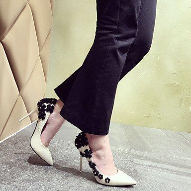 Sandalias Stiletto 12 y PU Mujer Black Verano LvYuan Tacón Confort Negro cms Almendra Más Confort ZBv0qxw