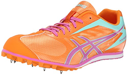 ASICS Women's Hyper LD 5 Track And Field Shoe,Mango/Rose/Mint,8.5 M - Ld Track