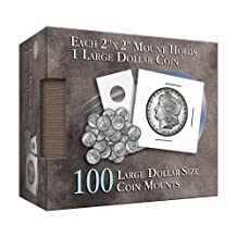 Large Dollar Size Coin Mount: 100 Count