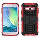 JAMMYLIZARD Samsung Galaxy A5 (2015) Case, ALLIGATOR Heavy Duty Double Protection Rugged Back Cover, Red