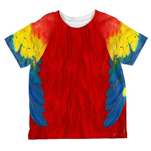 Halloween Scarlet Macaw Parrot Costume All Over Toddler T Shirt Multi 6T