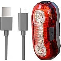 boldR® Luz Trasera Recargable de LEDs para Bicicleta / Reflector para Bici Resistente al Agua. 5 Modos de Uso. Batería Recargable de Litio con duración de hasta 30 horas. Compatibilidad Universal. Bike Rechargeable Flash Light.