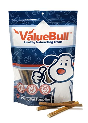 Image of ValueBull Bully Sticks Dog Chews, 6 Inch Regular/Thin, All Natural, 100 Count