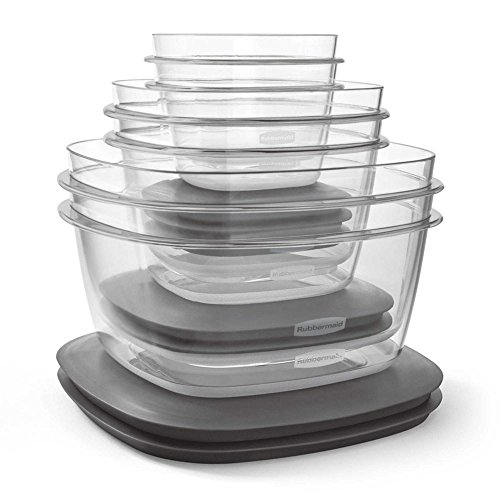 Rubbermaid 12-Piece Premier Flex N Seal Food Storage Container Set with Lids, Microwave Safe (Pull Down Lid compare prices)