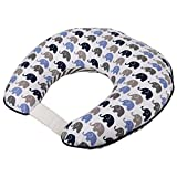 Elephants Blue/Grey Nursing Pillow Cover