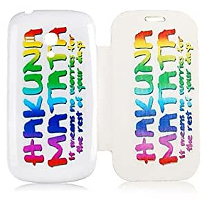TOPQQ English Letter Pattern Full Body Case for Samsung Galaxy S3 Mini I8190
