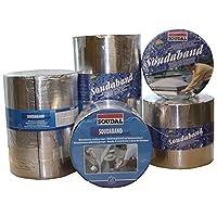 Soudal Soudaband Aludichtband Bitumenband Dachband Gr.100mm x 10m-> alu, selbstklebend, wasserdicht