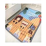 Cartoon Pattern Cotton Kids Carpet - Nursery Home Rug Children Play Mat Rectangle Shape 55 x 79 Inch