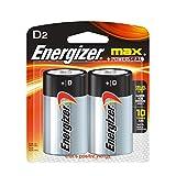 Energizer E95BP-2 D MAX ALK D-2 Battery One Size Color