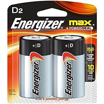 Amazon.com: Energizer Max D Batteries, Double-pack E95BP-2