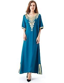 HARiM SOLTANE Muslim Dress Abaya Kaftan Dubai Dress for Women Islamic  Clothing Rayon Gown Jalabiyas ce1c7a7243b3