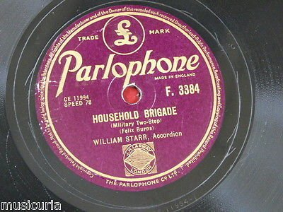 78rpm WILLIAM STARR household brigade / boston two step [ luke cavendish (Boston Two Step)