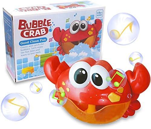 Bubble Bath Toy Music Rojo Automatic Bubble Machine Blower Maker Crazy Ling Kids Bath Toys Age 1-2 Music Bath Bubble Maker Machine Crab Frog Juguete autom/ático para beb/és ni/ños
