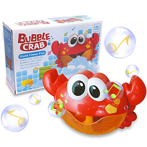 (ZHENDUO Baby Bath Bubble Toy Bubble Crab Bubble Blower Bubble Machine Bubble Maker with Nursery Rhyme Bathtub Bubble Toys for Infant Baby Children Kids Happy Tub Time)