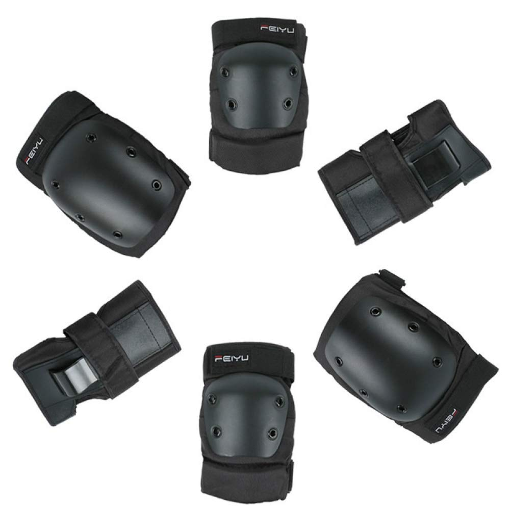 Beetle LLC - Professional 6 Pieces/Set Unisex Sport Safety Set Skateboard Skating Skiing Roller Protection Gear Elbow Knee Pads Wrist Guard