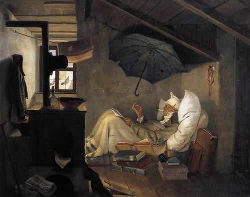 Αποτέλεσμα εικόνας για Carl Spitzweg: The Poor Poet (1835)