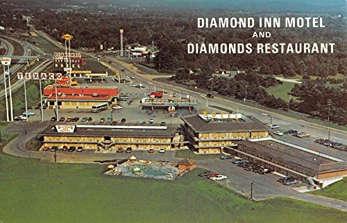 Villa Ridge Missouri Diamond Inn Motel Birdseye View Vintage Postcard K82321 Birdseye Diamond